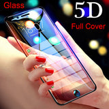 5D Full Cover Tempered Glass Screen Protector for iPhone 11 Pro Max/11 Pro/11/XS Max/XR/XS/X/8 Plus/8/7 Plus/7/6s Plus/6s/6 Plus/6 - caseative