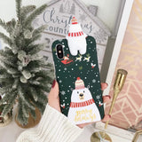 Christmas 3D Deer Snowman Phone Case Back Cover for iPhone SE/11 Pro Max/11 Pro/11/XS Max/XR/XS/X/8 Plus/8/7 Plus/7/6s Plus/6s/6 Plus/6 - caseative