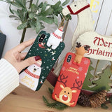 Christmas 3D Deer Snowman iPhone Case