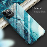 Luxury Tempered Glass Marble iPhone Case