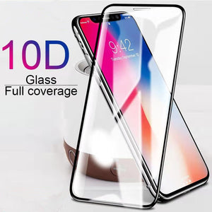 10D Tempered Glass Screen Protector for iPhone 11 Pro Max/11 Pro/11/XS Max/XR/XS/X/8 Plus/8/7 Plus/7/6s Plus/6s/6 Plus/6 - caseative