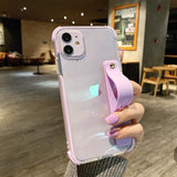 Transparent Wrist Strap Soft iPhone Case