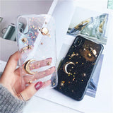 3D Space Moon Star Planet Phone Case Back Cover for iPhone SE/11 Pro Max/11 Pro/11/XS Max/XR/XS/X/8 Plus/8/7 Plus/7/6s Plus/6s/6 Plus/6 - caseative