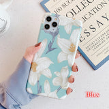 Beautiful Pressed Flower Glossy Soft Phone Case Back Cover for iPhone 11/11 Pro/11 Pro Max/XS Max/XR/XS/X/8 Plus/8/7 Plus/7 - caseative