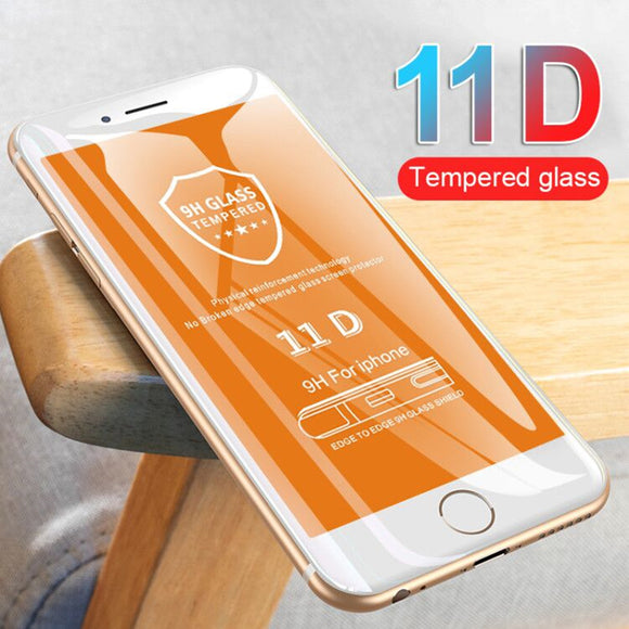 11D Curved Edge Tempered Glass Screen Protector for iPhone 11 Pro Max/11 Pro/11/XS Max/XR/XS/X/8 Plus/8/7 Plus/7/6s Plus/6s/6 Plus/6 - caseative