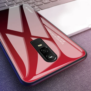 Gradient Tempered Glass Phone Case Back Cover for OnePlus 7 Pro/7/6T/6 - caseative