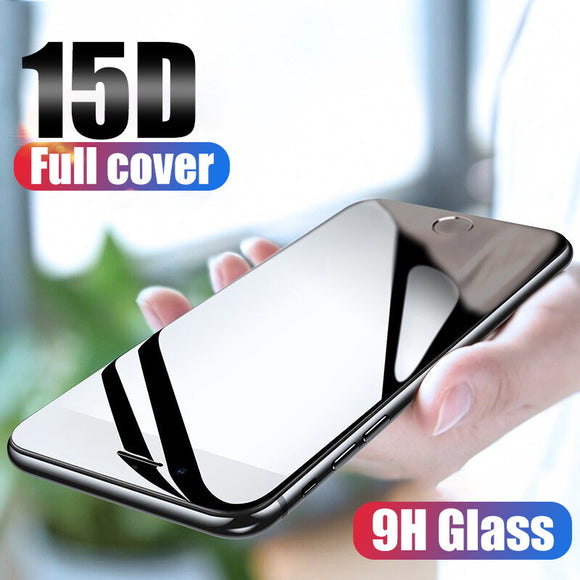 15D Full Cover Tempered Glass Screen Protector for iPhone 11 Pro Max/11 Pro/11/XS Max/XR/XS/X/8 Plus/8/7 Plus/7/6s Plus/6s/6 Plus/6 - caseative