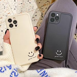Cute Simple Smiley Couple Silicone Soft iPhone Case