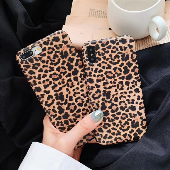 Leopard Printing Phone Case Back Cover for iPhone SE/11 Pro Max/11 Pro/11/XS Max/XR/XS/X/8 Plus/8/7 Plus/7/6s Plus/6s/6 Plus/6 - caseative