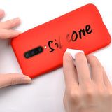 Candy Color Soft Silicon Phone Case Back Cover for OnePlus 7 Pro/7/6T/6 - caseative