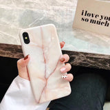 New Fashion Marble Phone Case Back Cover for iPhone SE/11 Pro Max/11 Pro/11/XS Max/XR/XS/X/8 Plus/8/7 Plus/7/6s Plus/6s/6 Plus/6 - caseative