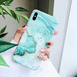 New Fashion Marble Phone Case Back Cover for iPhone 11 Pro Max/11 Pro/11/XS Max/XR/XS/X/8 Plus/8/7 Plus/7/6s Plus/6s/6 Plus/6 - caseative