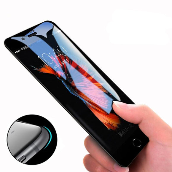 5D Round Curved Edge Tempered Glass Screen Protector for iPhone 11 Pro Max/11 Pro/11/XS Max/XR/XS/X/8 Plus/8/7 Plus/7/6s Plus/6s/6 Plus/6 - caseative