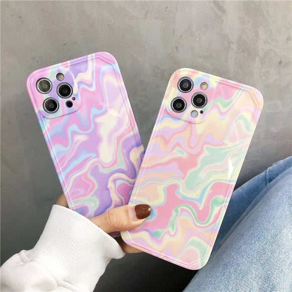 Color Water Ripples Silicone Soft iPhone Case