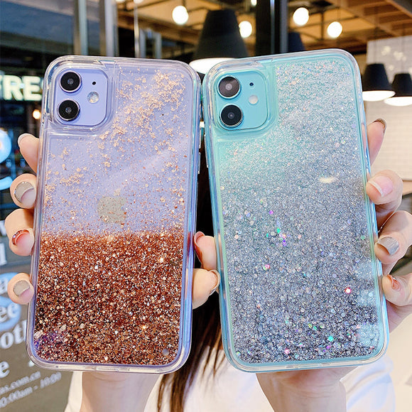 Glowing Quicksand Clear Soft iPhone Case