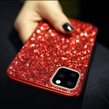 Luxury Bling Glitter Diamond Soft Phone Case Back Cover for iPhone 11/11 Pro/11 Pro Max/XS Max/XR/XS/X/8 Plus/8/7 Plus/7 - caseative