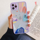 Scrawl Camera Lens Protector Acrylic iPhone Case
