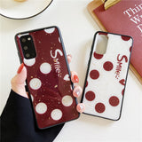 Smile Letter Dots Soft Samsung Case