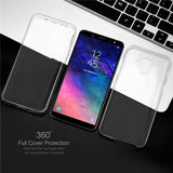 Double Side 360 Full Protective Transparent Phone Case Back Cover for Samsung Galaxy S9 Plus/S9/S8 Plus/S8/S7 Edge/S7/S6 Edge/S6 - caseative