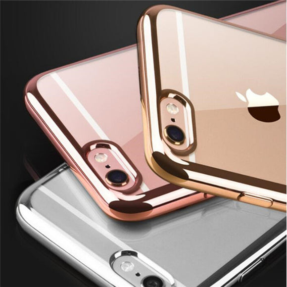 Rose gold Luxury Plating Phone Case Back Cover for iPhone SE/11 Pro Max/11 Pro/11/XS Max/XR/XS/X/8 Plus/8/7 Plus/7/6s Plus/6s/6 Plus/6 - caseative