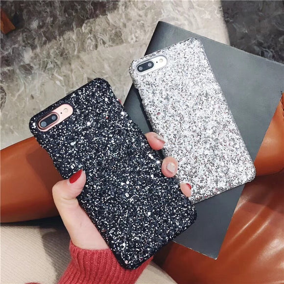 Fashion Sparkle Glitter Powder Sequins Diamond Phone Case Back Cover for iPhone SE/11 Pro Max/11 Pro/11/XS Max/XR/XS/X/8 Plus/8/7 Plus/7/6s Plus/6s/6 Plus/6 - caseative