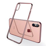 Full Plating Clear Crystal Ultra Thin Protective Phone Case Back Cover for iPhone SE/11 Pro Max/11 Pro/11/XS Max/XR/XS/X/8 Plus/8/7 Plus/7/6s Plus/6s/6 Plus/6 - caseative