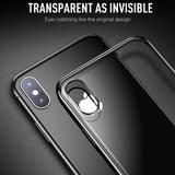 Full Plating Clear Crystal Ultra Thin Protective Phone Case Back Cover for iPhone XS Max/XR/XS/X/8 Plus/8/7 Plus/7/6s Plus/6s/6 Plus/6 - caseative