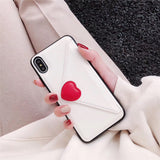 Fashion Love Heart Leather Wallet Phone Case Back Cover for iPhone SE/11 Pro Max/11 Pro/11/XS Max/XR/XS/X/8 Plus/8/7 Plus/7/6s Plus/6s/6 Plus/6 - caseative