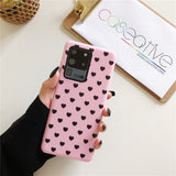 Candy Pink Dinosaur Heart Silicone Samsung Case