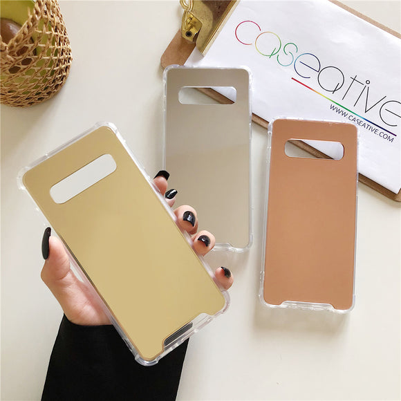Luxury Plating Bling Soft Mirror Samsung Case