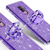 3D Diamond 360 Degree Rotating Ring Holder Plating soft TPU Glitter Bling Samsung Case
