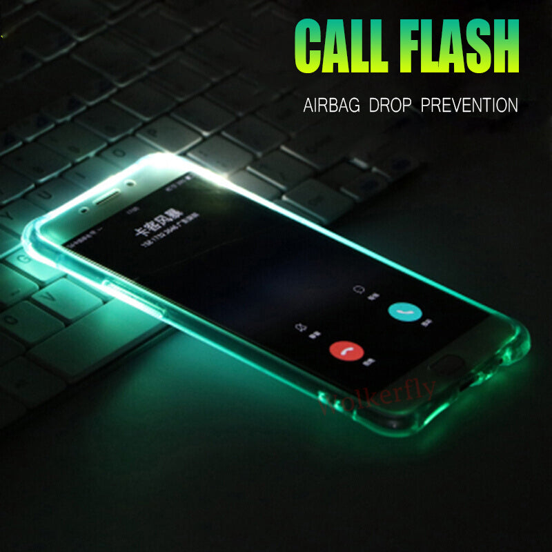LED Flash Light Up Remind Incoming Call Phone Case Back Cover for iPhone XS  Max/XR/XS/X/8 Plus/8/7 Plus/7/6s Plus/6s/6 Plus/6