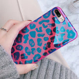 Blu-Ray Laser Rose Red Sexy Leopard Soft IMD Phone Case Back Cover for iPhone SE/11 Pro Max/11 Pro/11/XS Max/XR/XS/X/8 Plus/8/7 Plus/7/6s Plus/6s/6 Plus/6 - caseative