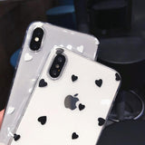 Cute Love Heart Ultra Thin Soft TPU Clear Phone Case Back Cover for iPhone 11 Pro Max/11 Pro/11/XS Max/XR/XS/X/8 Plus/8/7 Plus/7/6s Plus/6s/6 Plus/6 - caseative