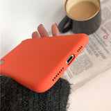 Vibrant Orange Candy Solid Frosted TPU Phone Case Back Cover for iPhone SE/11 Pro Max/11 Pro/11/XS Max/XR/XS/X/8 Plus/8/7 Plus/7/6s Plus/6s/6 Plus/6 - caseative