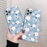 Simple Flower Frame Soft iPhone Case