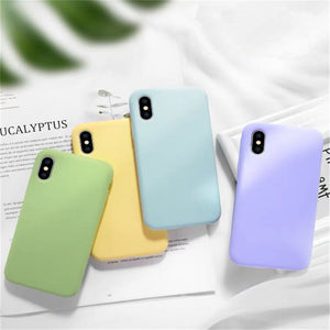 Liquid Silicone Full Protective Phone Case Back Cover for iPhone SE/11 Pro Max/11 Pro/11/XS Max/XR/XS/X/8 Plus/8/7 Plus/7/6s Plus/6s/6 Plus/6 - caseative