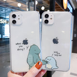 Cute Cartoon Dinosaur Soft iPhone Case