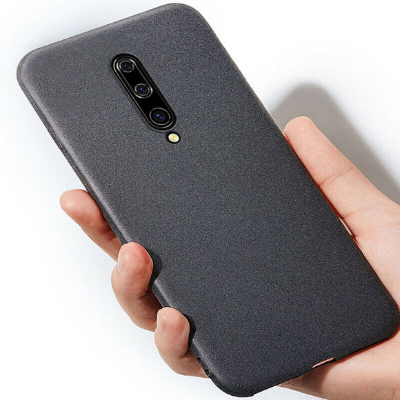 Ultra Thin Sandstone Matte Soft Silicon Phone Case Back Cover for OnePlus 7 Pro/7/6T/6 - caseative