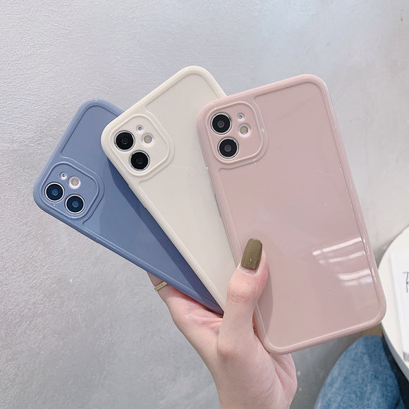 Simple Solid Color Soft iPhone Case