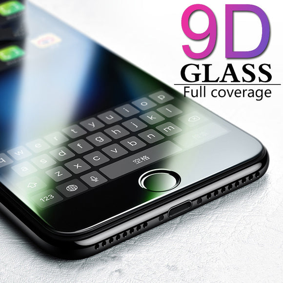 9D Tempered Glass Screen Protector for iPhone 11 Pro Max/11 Pro/11/XS Max/XR/XS/X/8 Plus/8/7 Plus/7/6s Plus/6s/6 Plus/6 - caseative