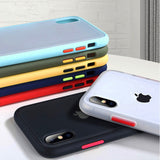 Transparent Anti-shock Frame Silicone Phone Case Back Cover for iPhone SE/11/11 Pro/11 Pro Max/XS Max/XR/XS/X/8 Plus/8/7 Plus/7 - caseative