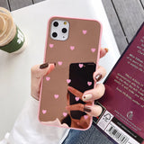 Heart Mirror Acrylic Phone Case Back Cover for iPhone SE/11 Pro Max/11 Pro/11/XS Max/XR/XS/X/8 Plus/8/7 Plus/7 - caseative