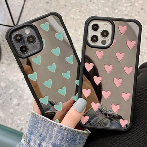 Luxury Mirror Love Heart iPhone Case