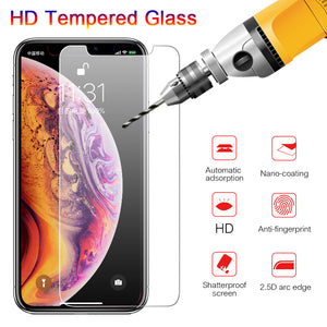 HD Tempered Glass Screen Protector for iPhone 11 Pro Max/11 Pro/11/XS Max/XR/XS/X/8 Plus/8/7 Plus/7/6s Plus/6s/6 Plus/6 - caseative