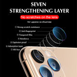 2 Pcs Glass Film Camera Len Protector for iPhone 11/11 Pro/11 Pro Max/XS Max/XR/XS/X/8 Plus/8/7 Plus/7 - caseative