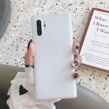 Simple Matte Soft Silicone Samsung Case