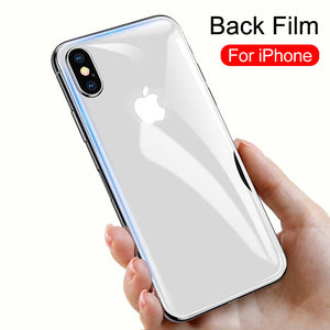 Back Tempered Glass Screen Protector for iPhone 11 Pro Max/11 Pro/11/XS Max/XR/XS/X/8 Plus/8/7 Plus/7/6s Plus/6s/6 Plus/6 - caseative