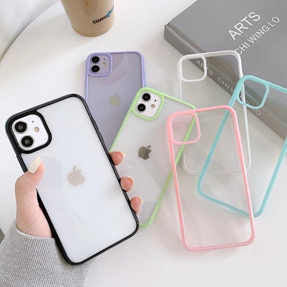 Shockproof Colorful Clear Soft iPhone Case