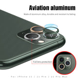 3 In 1 Tempered Glass and Metal Protection Ring Camera Len Protector for iPhone 11/11 Pro/11 Pro Max - caseative